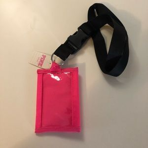 PINK Victoria's Secret Accessories - NWT VS Pink Hot Pink Logo Wallet Lanyard OS